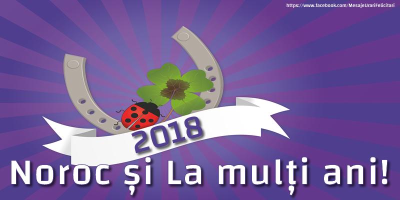 Felicitari de Anul Nou - 2018 Noroc și La mulți ani!