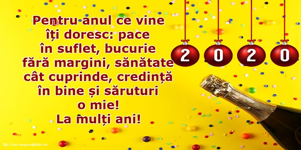 Felicitari de Anul Nou - La mulți ani!