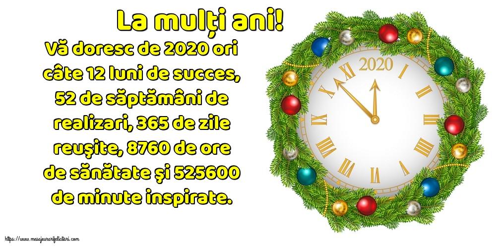 Felicitari de Anul Nou - La mulţi ani!