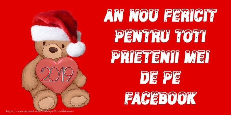 Anul Nou 2018 An nou fericit pentru toti prietenii mei de pe facebook!