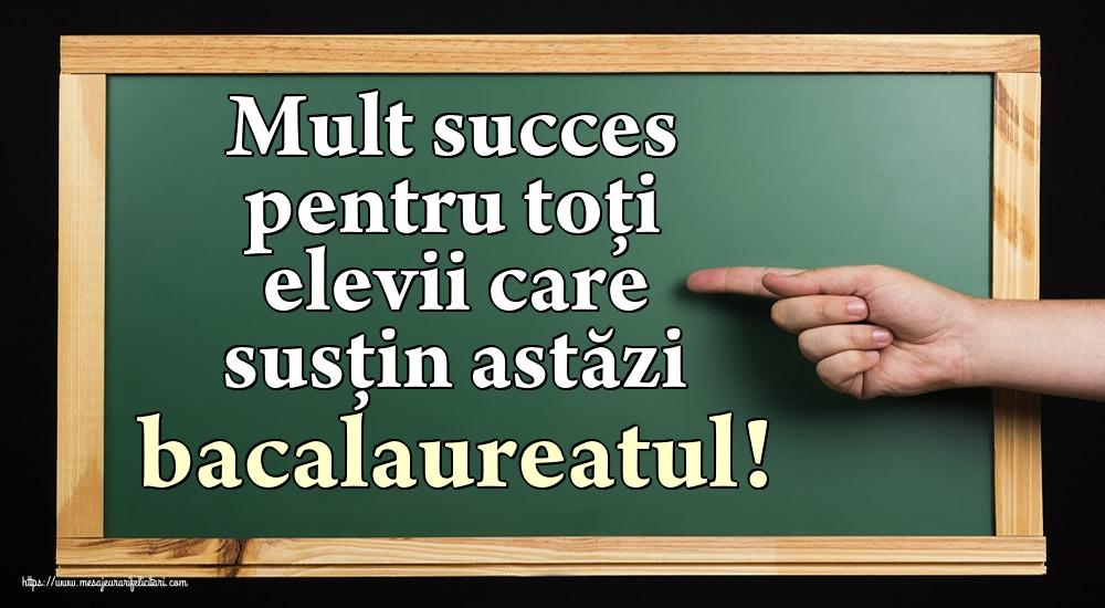 Felicitari Succes la Bacalaureat - Mult succes pentru toți elevii care susțin astăzi bacalaureatul!