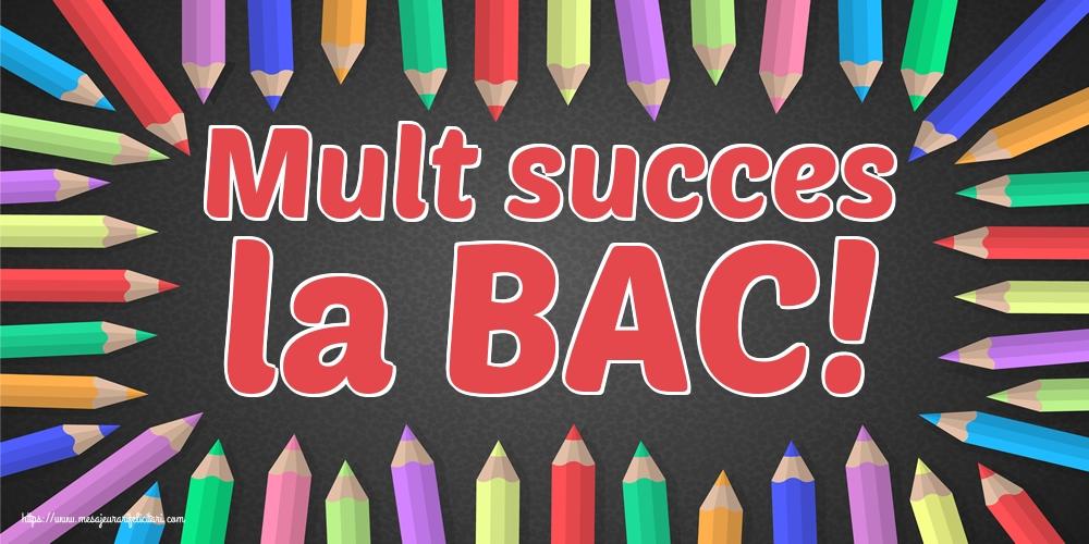 Cele mai apreciate felicitari Succes la Bacalaureat - Mult succes la BAC!