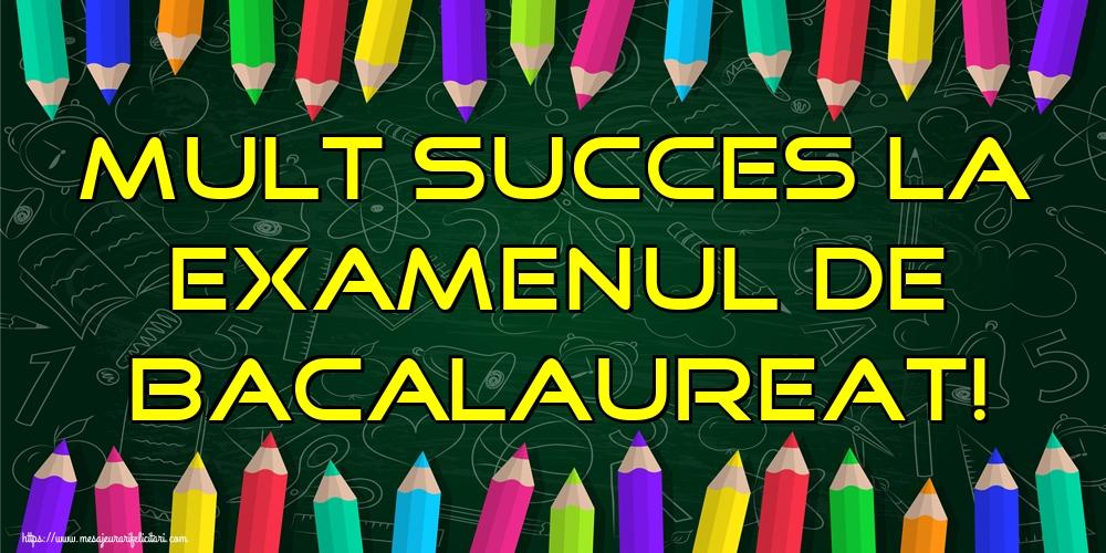 Cele mai apreciate felicitari Succes la Bacalaureat - Mult succes la Examenul de Bacalaureat!