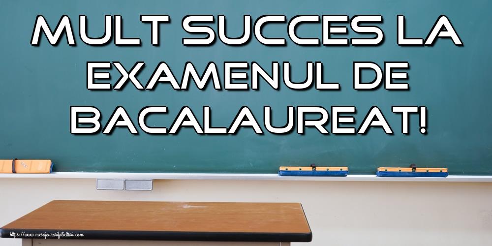 Felicitari Succes la Bacalaureat - Mult succes la Examenul de Bacalaureat!
