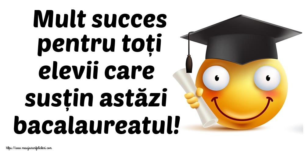 Bacalaureat Mult succes pentru toți elevii care susțin astăzi bacalaureatul!