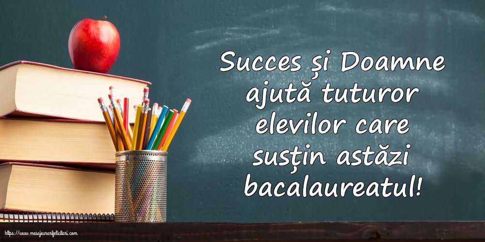 Felicitari Succes la Bacalaureat - Succes și Doamne ajută tuturor elevilor care susțin astăzi bacalaureatul!
