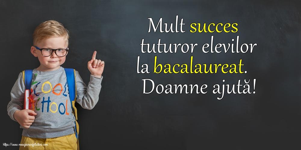 Felicitari Succes la Bacalaureat - Doamne ajută! - mesajeurarifelicitari.com