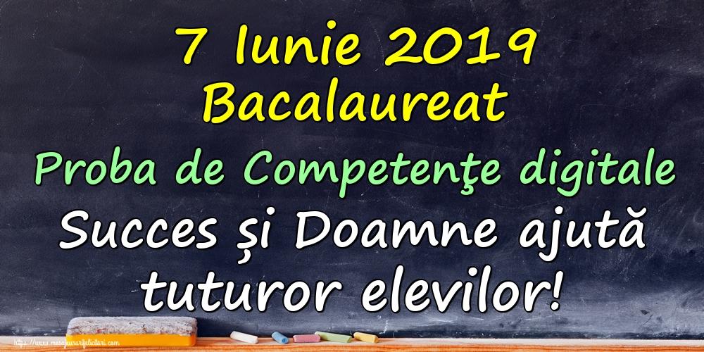 Felicitari Succes la Bacalaureat - 7 Iunie 2019 Bacalaureat Proba de Competenţe digitale Succes și Doamne ajută tuturor elevilor!