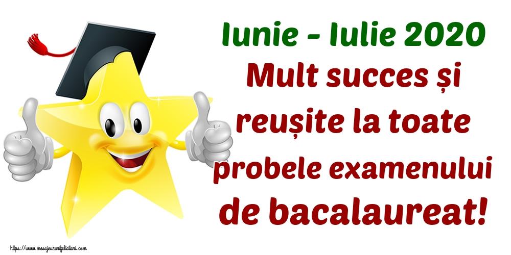 Felicitari Succes la Bacalaureat - Iunie - Iulie 2020 Mult succes și reușite la toate probele examenului de bacalaureat!