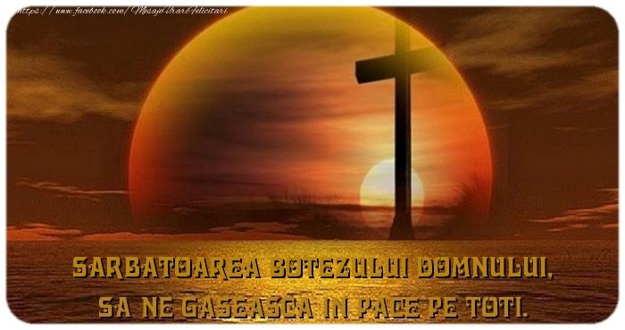 Sarbatoarea Botezului Domnului, Sa ne gaseasca in pace pe toti.