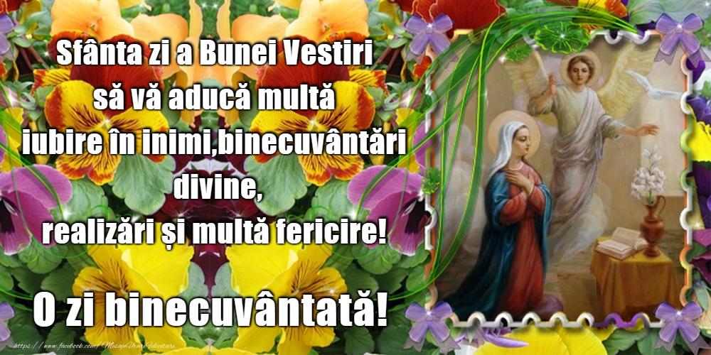 Felicitari de Buna Vestire - 25 Martie - Buna Vestire