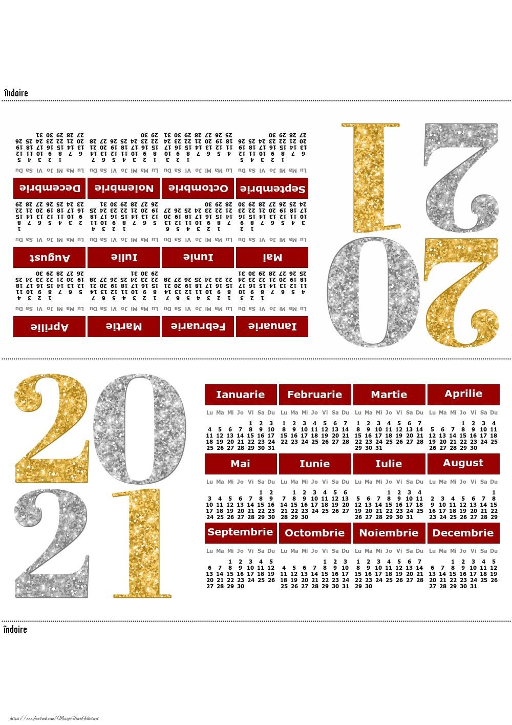 Imagini cu calendare - Calendar de birou pentru anul 2021