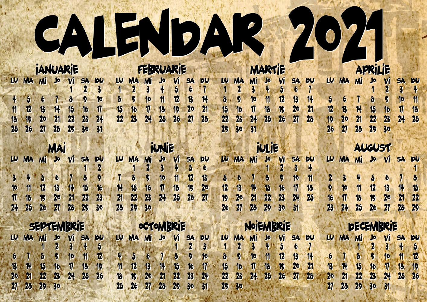 Imagini cu calendare - Vintage - Model 1