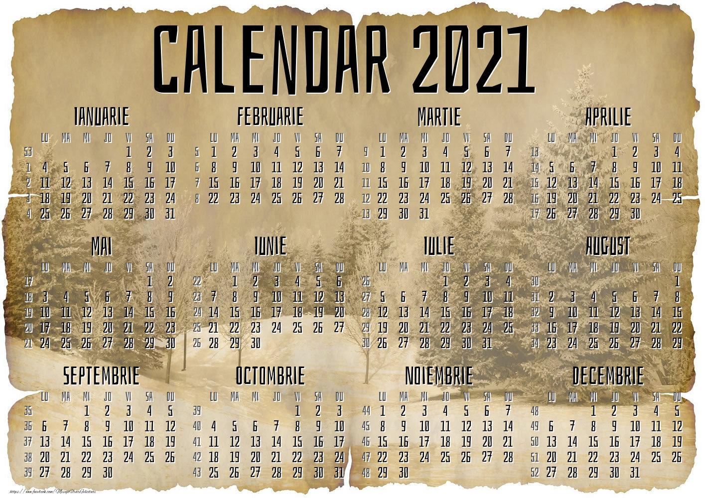 Imagini cu calendare - Vintage - Model 3