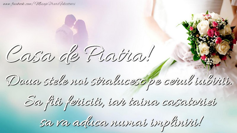 Felicitari de Casatorie - Casa de piatra! - mesajeurarifelicitari.com