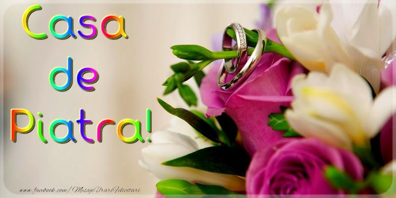 Felicitari de Casatorie - Casa de piatra!