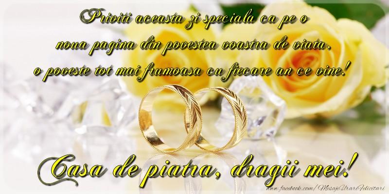 Felicitari de Casatorie - Casa de piatra, dragii mei!