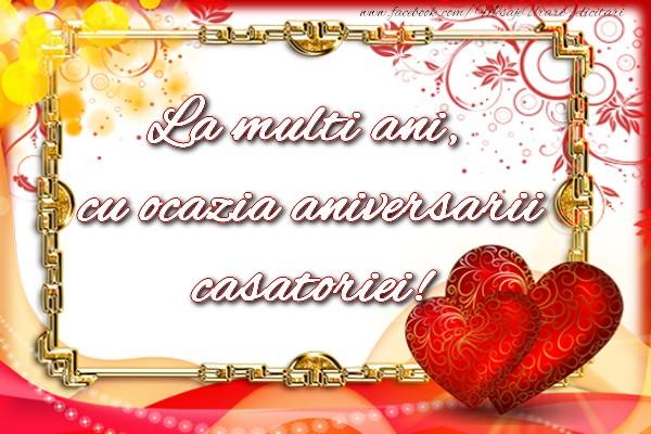 La multi ani, cu ocazia aniversarii casatoriei!