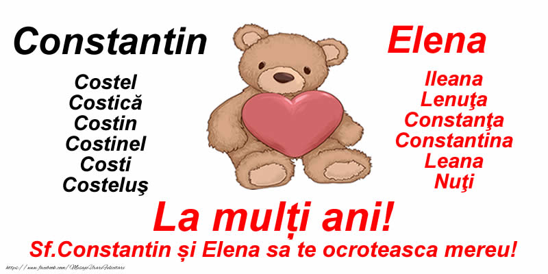 Felicitari de Sfintii Constantin si Elena - La mulți ani! Sf.Constantin și Elena sa te ocroteasca mereu! - mesajeurarifelicitari.com