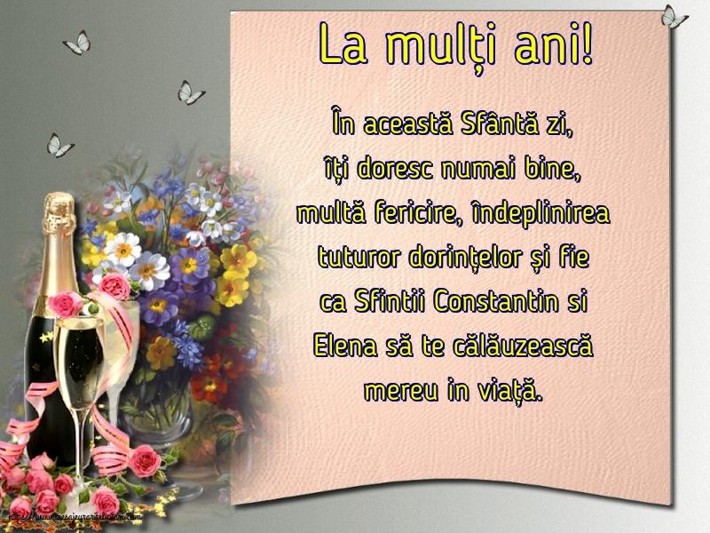 Felicitari de Sfintii Constantin si Elena - La mulți ani! - mesajeurarifelicitari.com