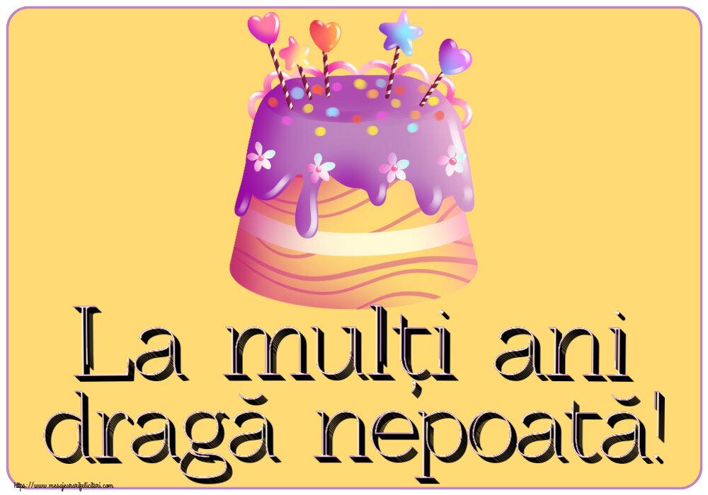 Felicitari pentru copii - La mulți ani dragă nepoată!