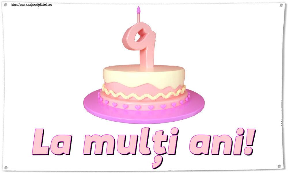 Felicitari pentru copii - La mulți ani! ~ Tort 9 ani