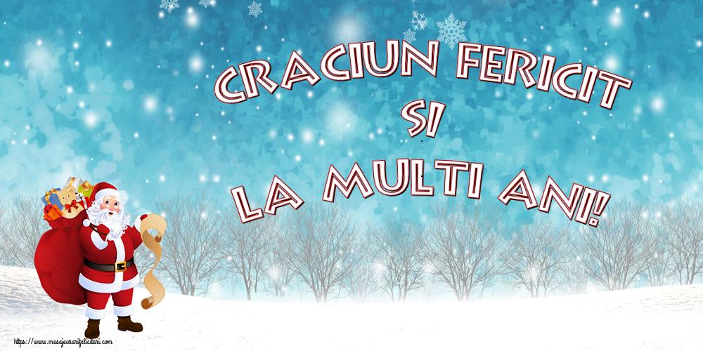 Felicitari de Craciun cu Mos Craciun - Craciun Fericit si La multi ani!