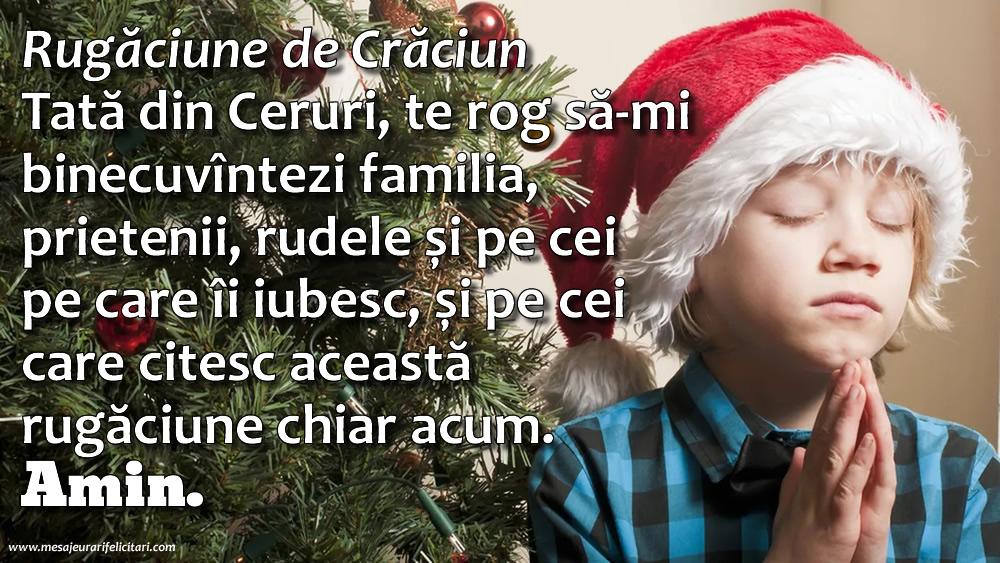 Felicitari de Craciun - Rugăciune de Crăciun - mesajeurarifelicitari.com