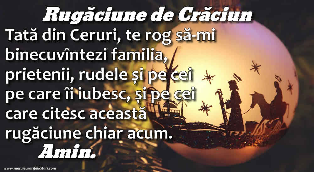 Rugăciune de Crăciun