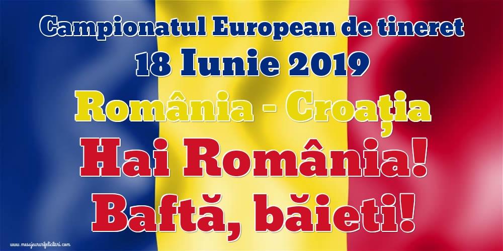 Felicitari Diverse - Hai România! - Baftă, băieti!