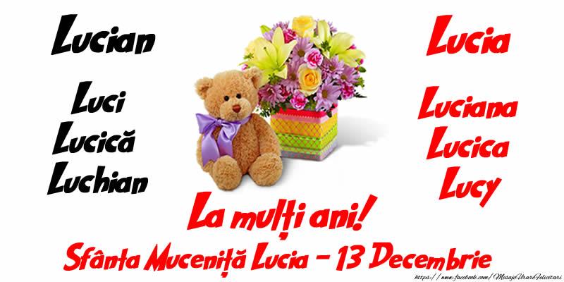 La mulți ani! Sfânta Muceniță Lucia - 13 Decembrie