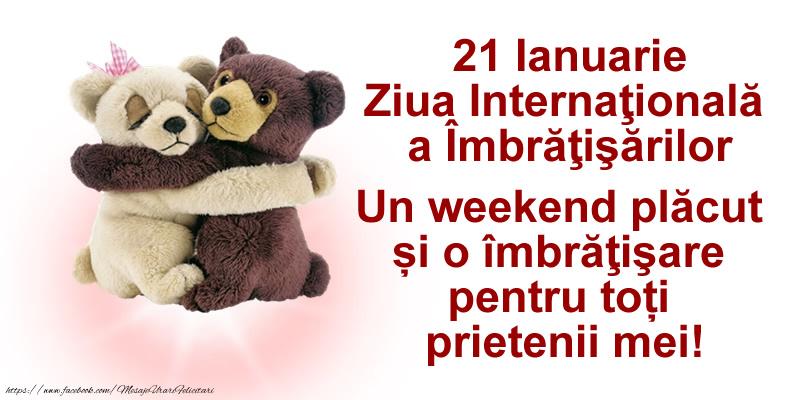 21 Ianuarie Ziua Internaţională a Îmbrăţişărilor