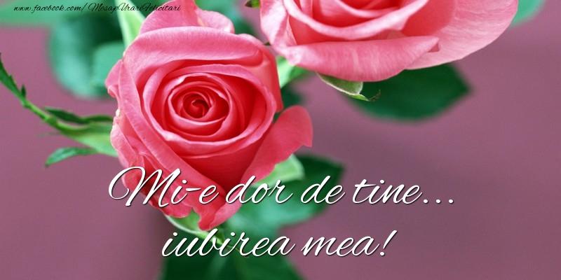 Felicitari de Dor - Mi-e dor de tine... iubirea mea!