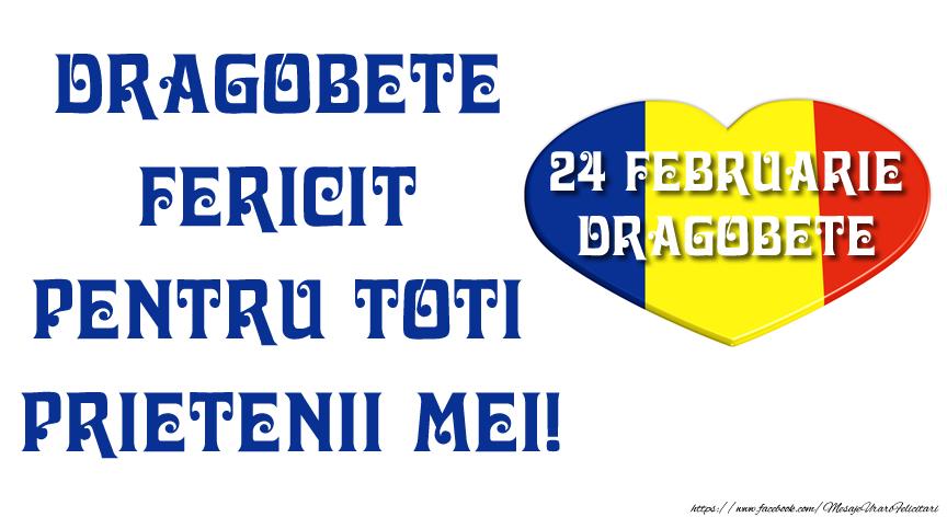 Felicitari de Dragobete - Dragobete fericit pentru toti prietenii mei! - mesajeurarifelicitari.com