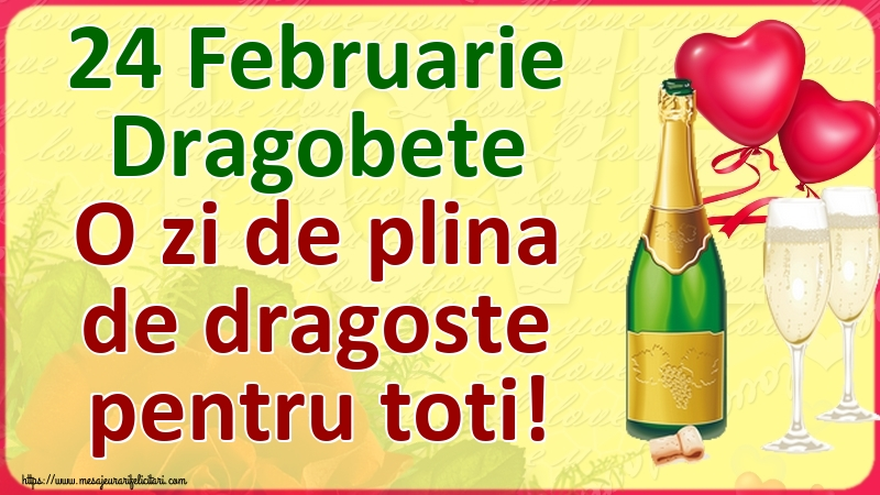 Felicitari de Dragobete - 24 Februarie Dragobete O zi de plina de dragoste pentru toti! - mesajeurarifelicitari.com