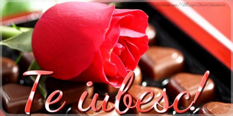 Felicitari de dragoste cu flori - Te iubesc