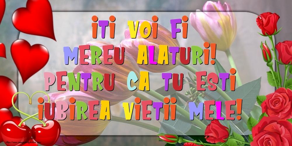 Felicitari de dragoste - Iti voi fi mereu alaturi! pentru ca tu esti iubirea vietii mele! - mesajeurarifelicitari.com