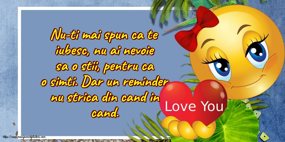 Felicitari de dragoste - Reminder