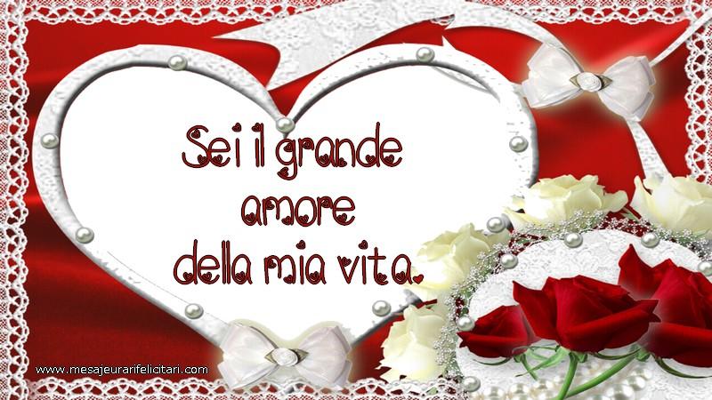 Felicitari de dragoste in Italiana - Sei il grande amore della mia vita.