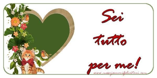 Felicitari de dragoste in Italiana - Sei tutto per me.