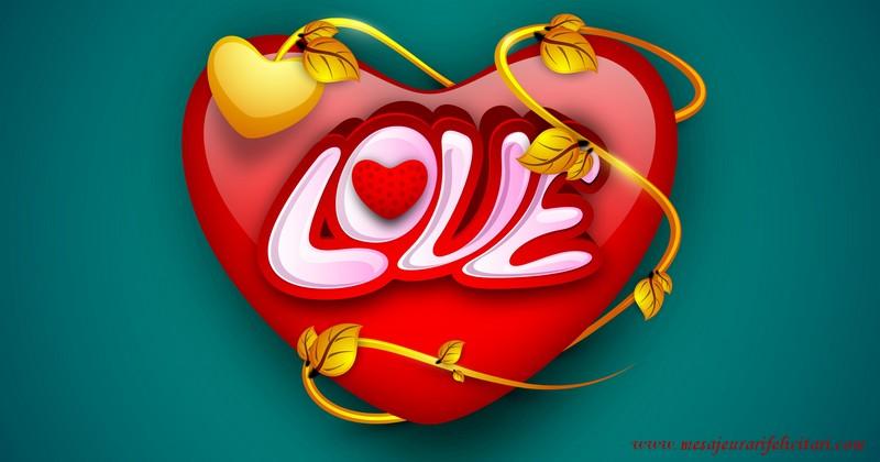 Felicitari de dragoste in Engleza - I love you