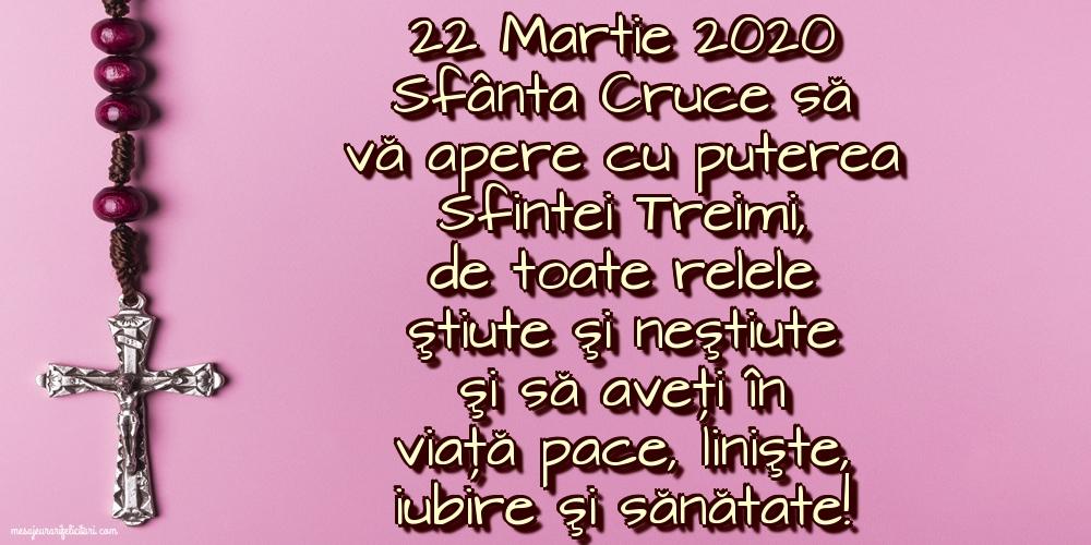 Imagini de Duminica Crucii - 22 Martie 2020 Sfânta Cruce să vă apere cu puterea Sfintei Treimi