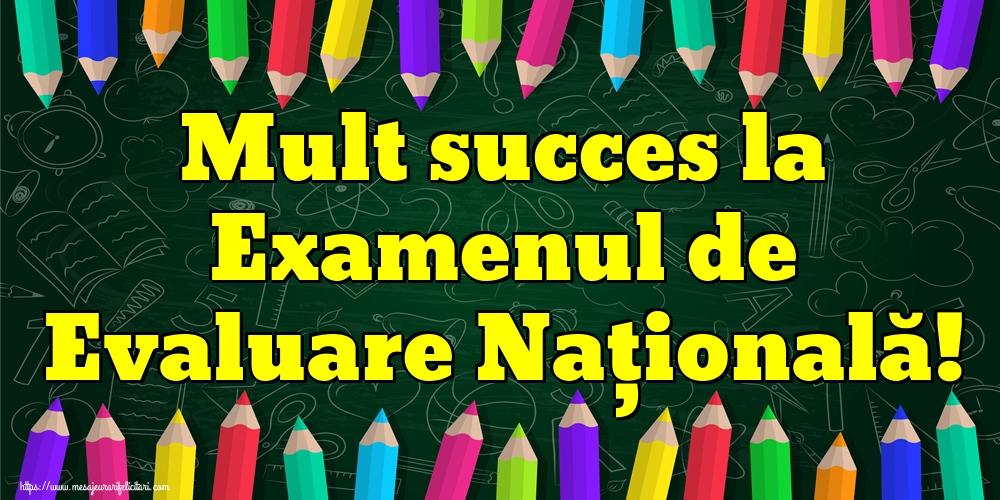 Felicitari de Evaluarea Națională - Mult succes la Examenul de Evaluare Națională!