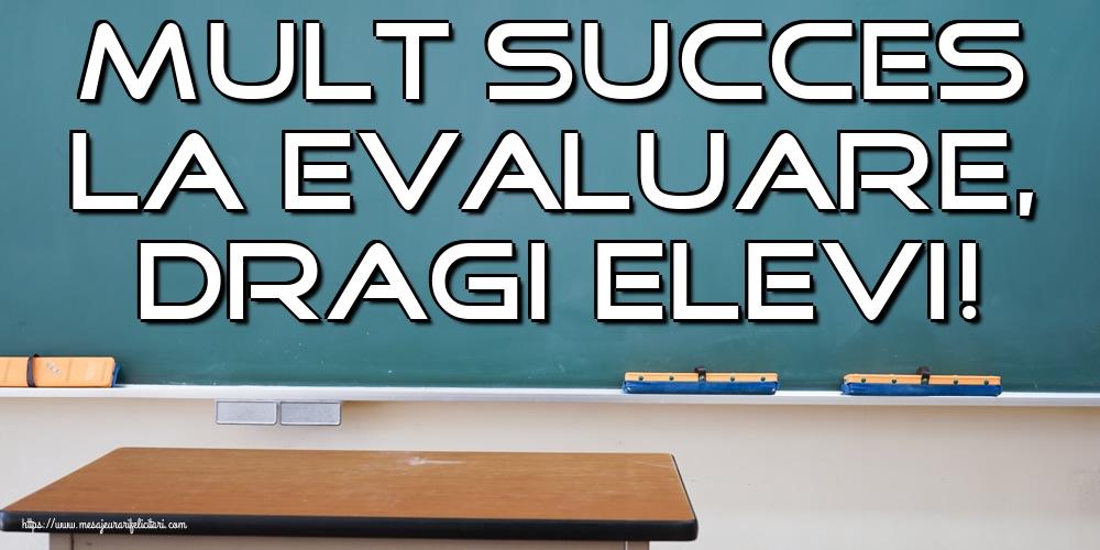Felicitari de Evaluarea Națională - Mult succes la Evaluare, dragi elevi!