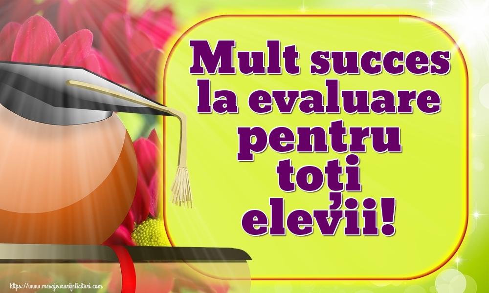 Felicitari de Evaluarea Națională - Mult succes la evaluare pentru toți elevii!