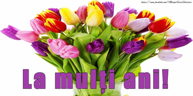 Cele mai apreciate felicitari cu flori cu lalele - La mulți ani! - Buchet de flori