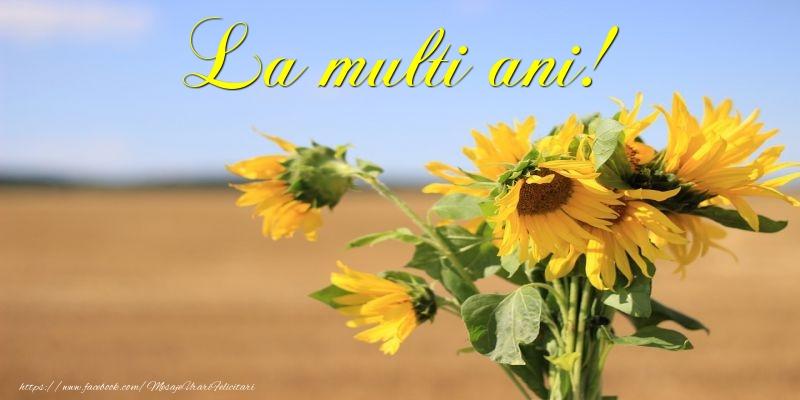 Felicitari cu flori - La multi ani! - mesajeurarifelicitari.com