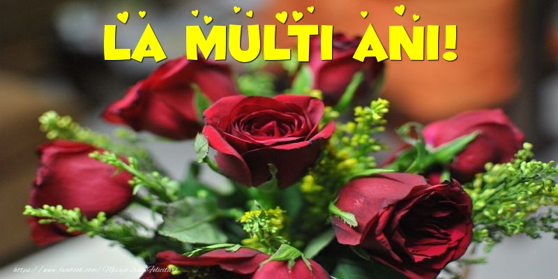 Cele mai apreciate felicitari cu flori cu trandafiri - La multi ani!