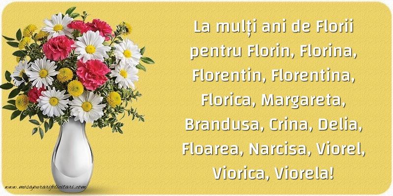 Felicitari de Florii - La multi ani de Florii pentru Florin, Florina, Florentin, Florentina...