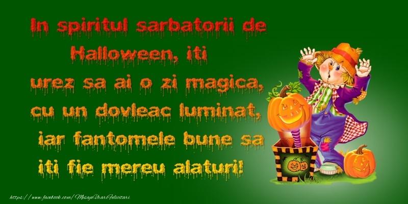 Felicitari de Halloween - In spiritul sarbatorii de Halloween